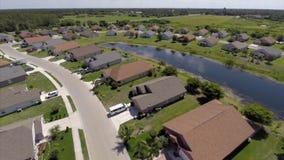 Aerial residential Sarasota neighborhood Stock Photos