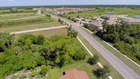 Aerial residential Sarasota neighborhood Royalty Free Stock Photography