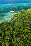 Aerial view of Hatta island in Indonesia Stock Images