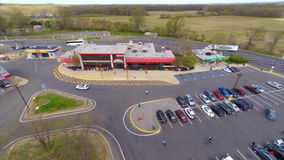 Aerial rest stop New Jersey USA Royalty Free Stock Images