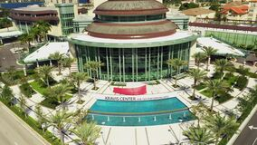 Aerial reveal Kravis Center for the performing arts West Palm Beach FL