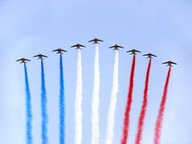 Aerial review. 13.July Day conquest Bastile in Paris Royalty Free Stock Photography