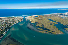 Aerial of river lagoon in South Africa Royalty Free Stock Photos