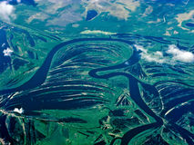 Aerial rivers of Russia Royalty Free Stock Photos