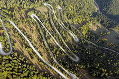 Aerial road. Aerial view of a road Stock Photography