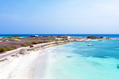 Aerial from Rogers Beach on Aruba island. In the Caribbean Sea Royalty Free Stock Image