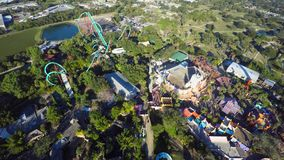 Aerial Roller Coaster stock video