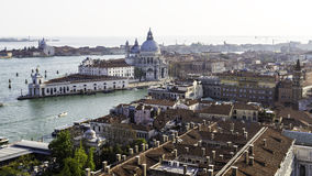 Aerial rooftop view of UNESCO World Heritage Site Venice Royalty Free Stock Photography