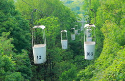 Aerial ropeway in Kharkov, Ukraine Royalty Free Stock Photos