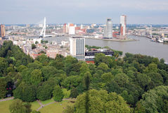Aerial Rotterdam Royalty Free Stock Photos
