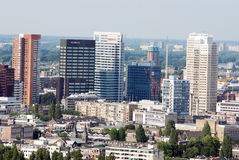 Aerial Rotterdam. Aerial photo of the City of Rotterdam (the Netherlands) The city with the biggest port in the world Royalty Free Stock Photos