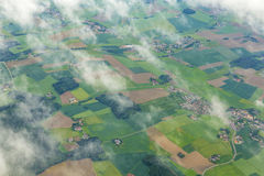 Aerial of rural area near Airport Munich in the erdinger moos Royalty Free Stock Images