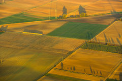 Aerial of rural landscape with cultivated land near Frankfurt am Main Stock Photos