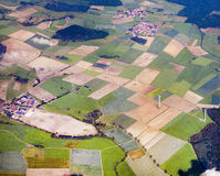Aerial of the rural landscape in the Eifel, Germany Stock Photos