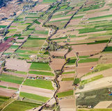 Aerial of rural landscape nar Royalty Free Stock Photography