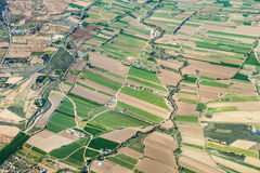 Aerial of rural landscape nar Stock Images