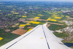 Aerial of rural landscape  near Bremen Royalty Free Stock Photography