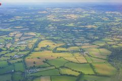 Aerial rural landscape near Gatwick Airport royalty free stock photos