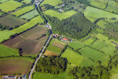 Aerial of rural landscape near. Hamburg Royalty Free Stock Images