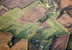 Aerial of rural landscape near Hamburg Royalty Free Stock Image