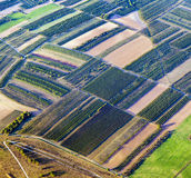 Aerial of rural landscape near Hamburg Stock Photography