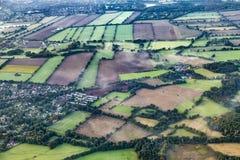 Aerial of rural landscape  near Hamburg Royalty Free Stock Photography
