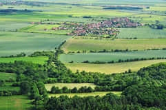 Aerial rural summer countryside Stock Images