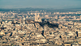 Aerial of the Sacre Coeur in Montmartre in Paris Royalty Free Stock Photos