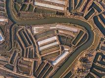 aerial Salinen, Beschaffenheiten von Natur aus geschaffen Lizenzfreie Stockfotografie