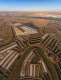 aerial Salt Seen und Flüsse gefilmt vom Himmel Stockfoto