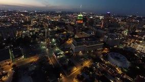 Aerial San Antonio at night stock video footage