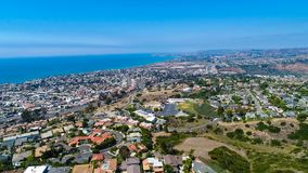 Aerial San Clemente looking towards Dana Point stock photos