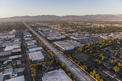 Aerial of the San Diego 405 Freeway in the San Fernando Valley Stock Image