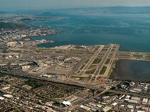 Aerial San Francisco Airport Royalty Free Stock Images