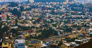 Aerial of San Francisco, California neighborhood in the hills Royalty Free Stock Photography
