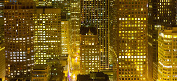 Aerial of San Francisco by night. With illuminated windows Royalty Free Stock Photo