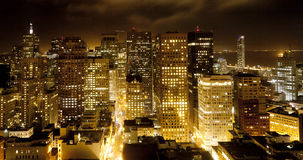 Aerial of San Francisco by night Stock Images