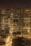 Aerial of San Francisco by night. Aerial of Downtown San Francisco by night Royalty Free Stock Photos