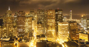 Aerial of San Francisco by night. Scenic aerial of San Francisco by night Stock Image