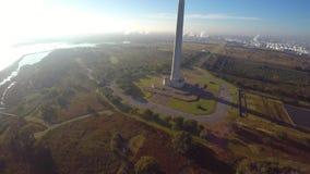 Aerial San Jacinto Battleground stock footage