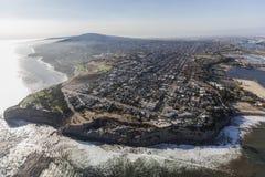 Aerial of San Pedro Coastline in Los Angeles California Royalty Free Stock Photography