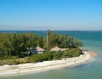 Aerial, Sanibel Lighthours royalty free stock photos