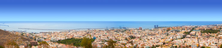 Aerial of Santa Cruz de Tenerife panoramic Stock Photo