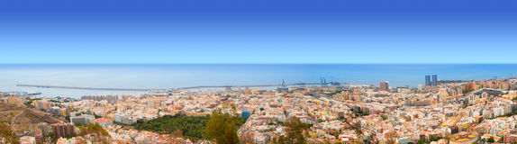 Aerial of Santa Cruz de Tenerife panoramic Royalty Free Stock Image