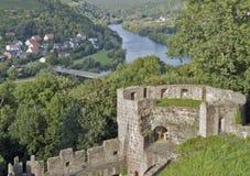 Aerial scenery around Wertheim Castle Royalty Free Stock Photo