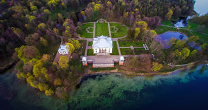 Aerial scenic. Historical places from above in Lithuania Royalty Free Stock Images
