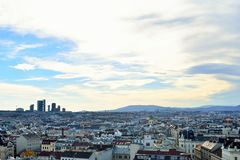 Aerial scenic panoramic view of Vienna Royalty Free Stock Image