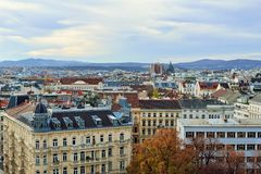 Aerial scenic panoramic view of Vienna Stock Photography