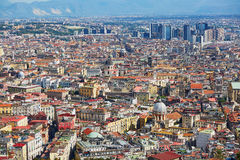 Aerial scenic view of Naples, Southern Italy Royalty Free Stock Image