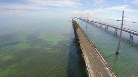 Aerial Seven Mile Bridge Florida Keys Stock Images